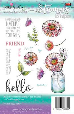 Polkadoodles Hello Friend clear stamp set