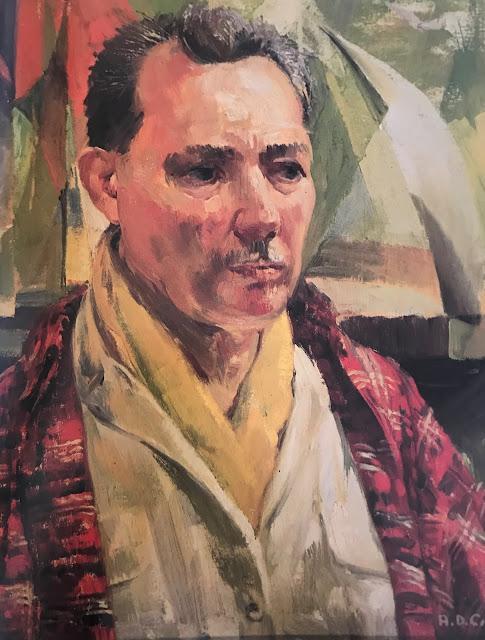 Alfred Crimi Self Portrait  New York Artist Mural Painter