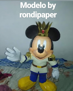 mickey papercraft princes principe silhouette lowpoly low poly disney