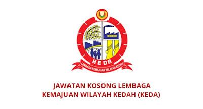 Jawatan Kosong Lembaga Kemajuan Wilayah Kedah 2019 (KEDA)