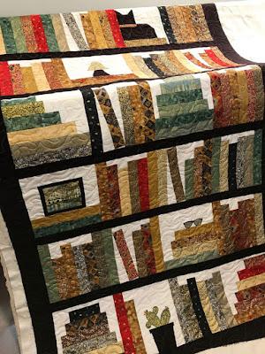 Catherines bookcase quilt