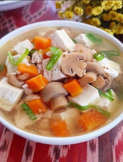 Resep Sup Tahu Putih : resep, putih, Jamur