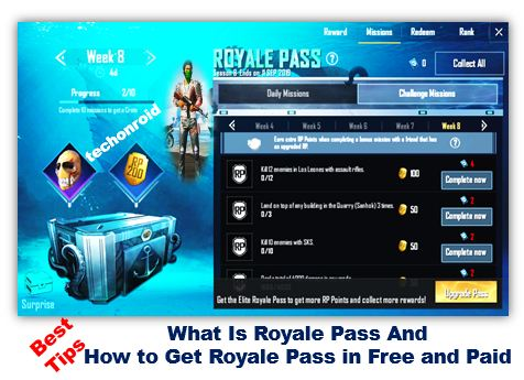 What Is Royale Pass, And How to Get Royale Pass in Free and Paid,how to upgrade royale pass, pubg mobile royal pass season 9, techonroid