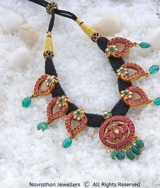 Black Thread Mango Necklaces