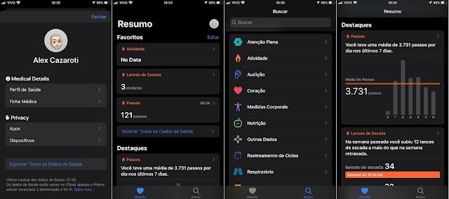 App Saúde no iOS 13 traz rastreamento de ciclo menstrual e outras mudanças visuais