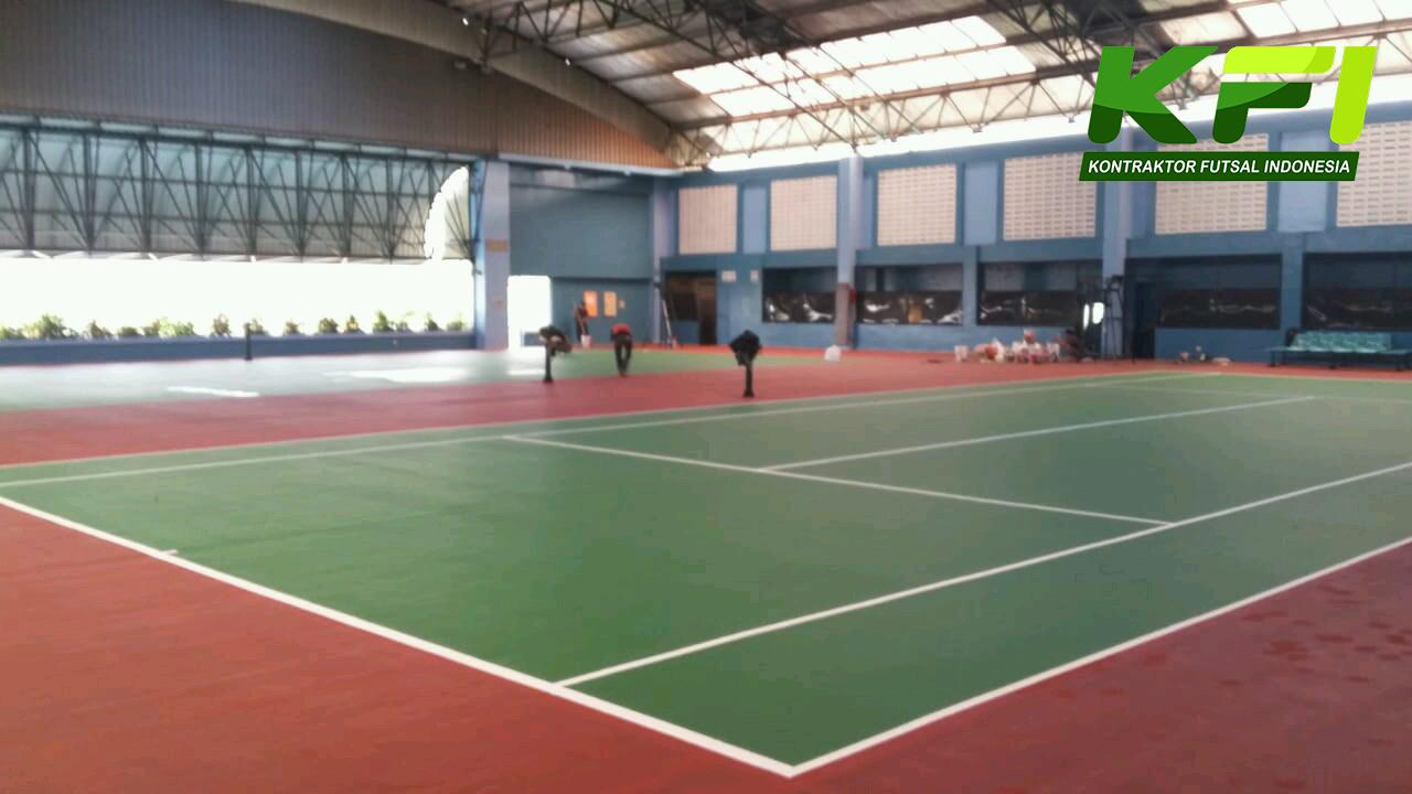 pengecatan lapangan badminton