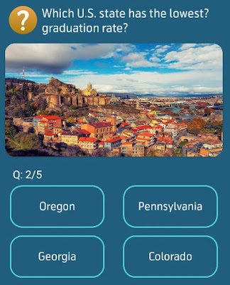 Which U.S. state has the lowest graduation rate?