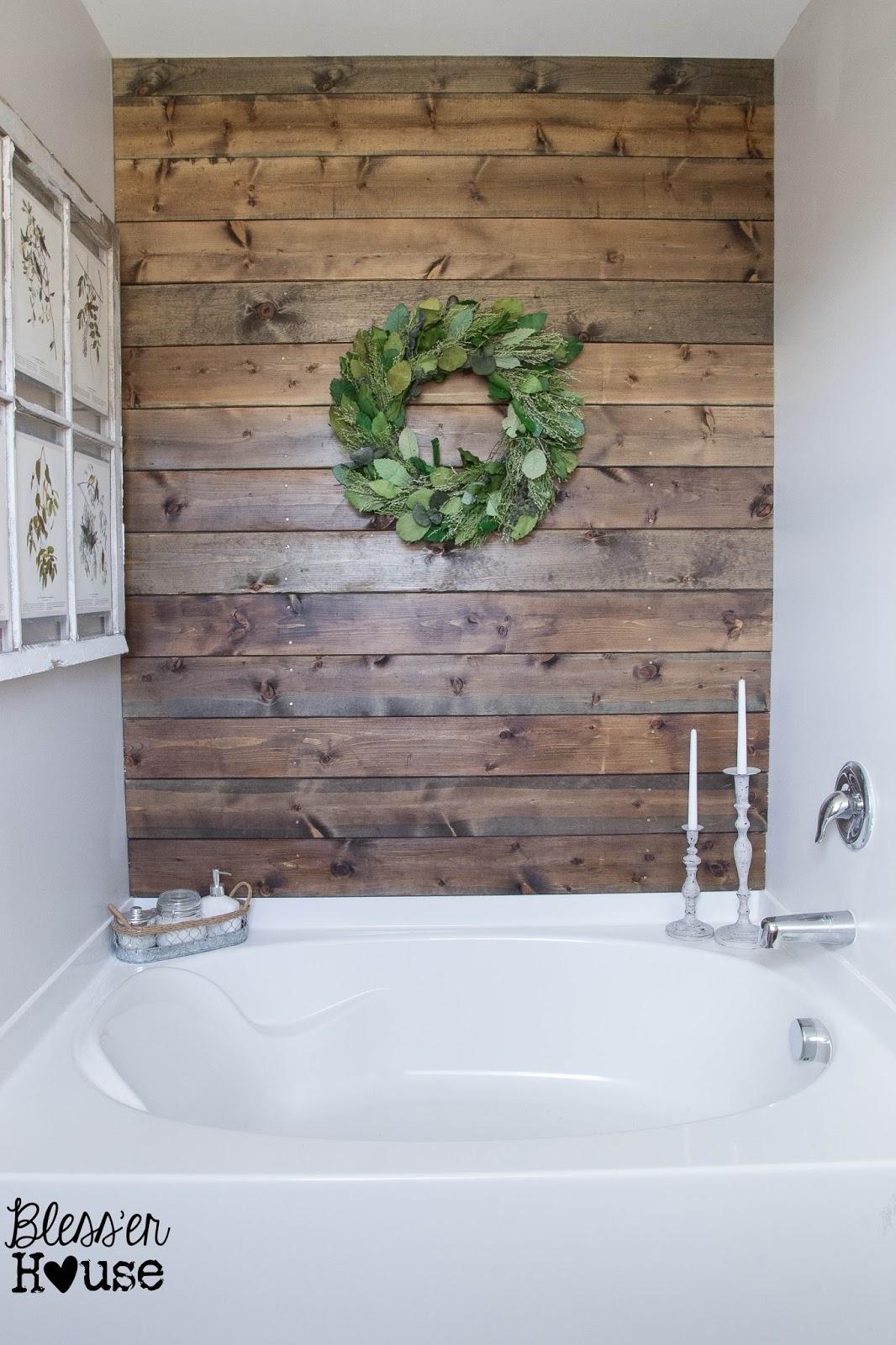 Walking the Plank: Master Bathroom Progress - Bless'er House