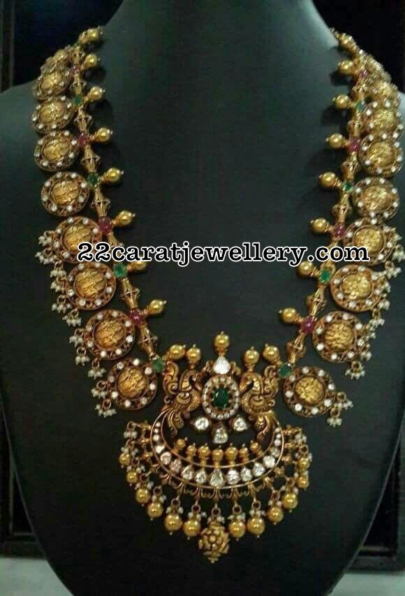 Antique Ram Parivar Haram Avaialble in Silver