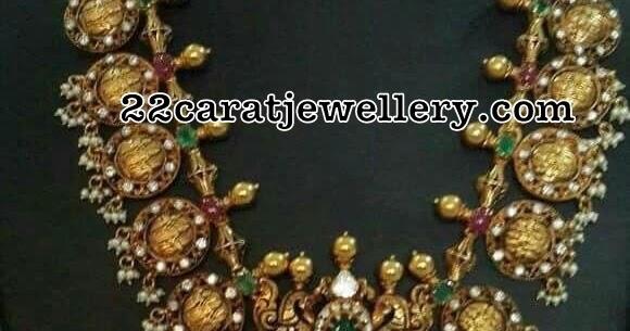 Antique Ram Parivar Haram Avaialble In Silver Jewellery