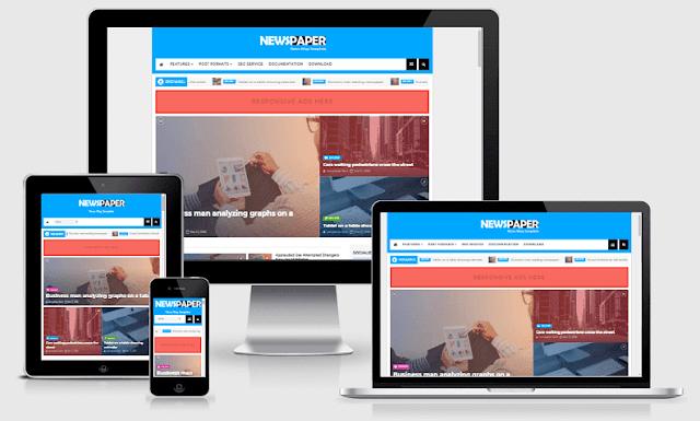 News Paper 1.0 - Download Template Blogger Gratis Responsive