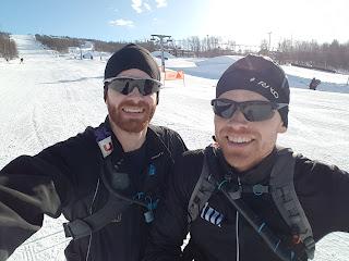Jag och min bror på startlinjen för kungsledenrännet 2018