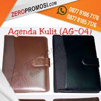 Souvenir Buku Agenda Kulit AG-04, Souvenir promosi Agenda Semi Kulit AG04