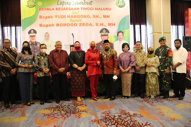 Murad Ismail Hadiri Pisah Sambut Kajati Maluku dari lama Yudi Handono ke Rorogo Zega