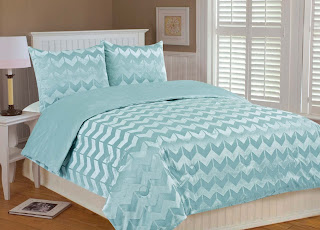 light teal chevron bedding