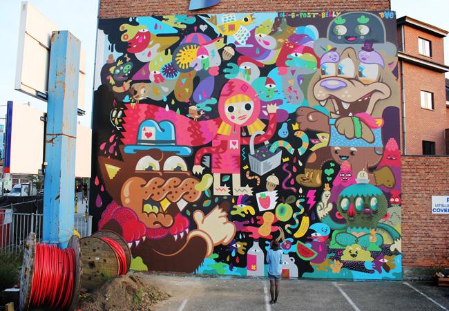 B Art: Bue The Warrior X Billy X Pest X Oli-B New Mural In