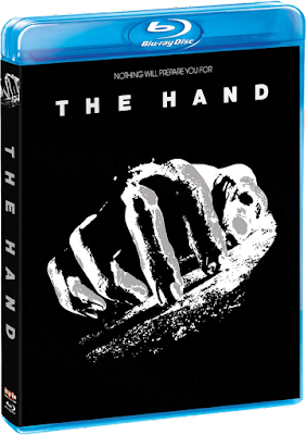 Cover art for Scream Factory's Blu-ray release of THE HAND!