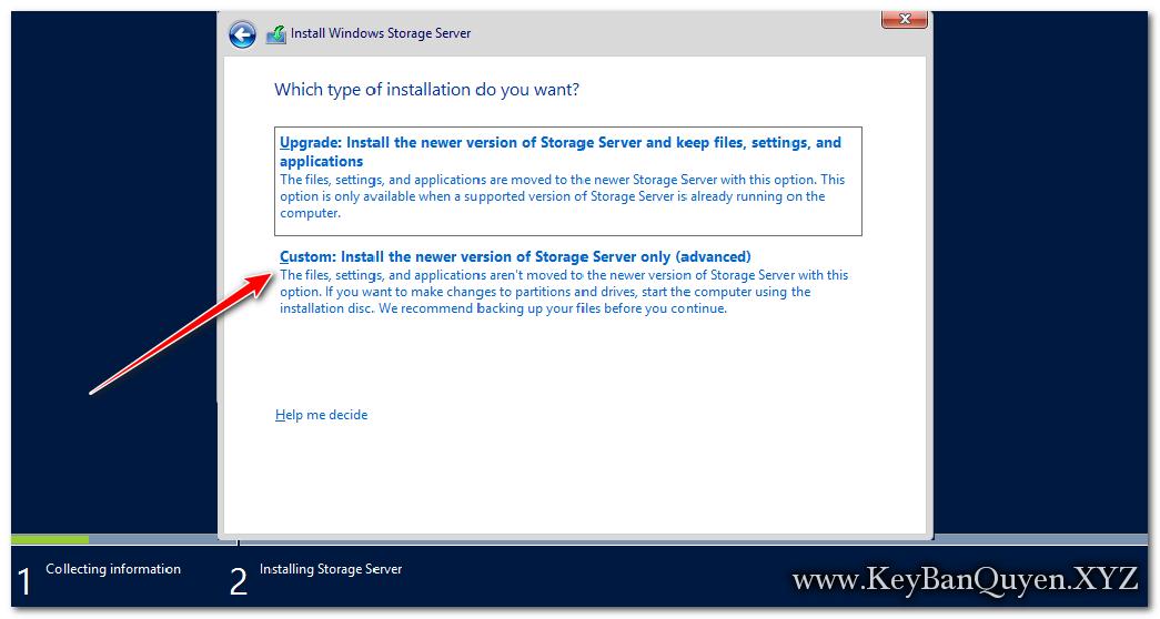 Hướng dẫn cài đặt Windows Storage Server 2012 R2 Standard và Workgroup