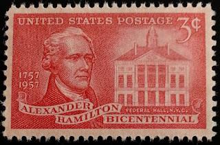 1957 3c Alexander Hamilton, Founding Father, Treasury