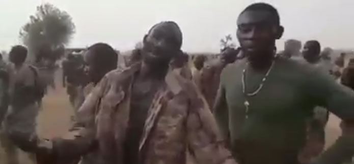 Video: Soldiers fight for water as relief materials finally arrive Sambisa forest battlefront