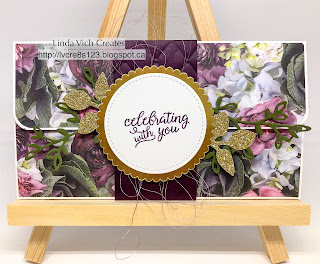 Linda Vich Creates: Petal Promenade Wedding Wallet. Petal Promenade DSP takes centre stage on this gorgeous, belly band-encircled wedding wallet.