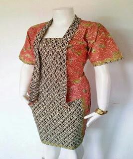model baju batik pegawai bank