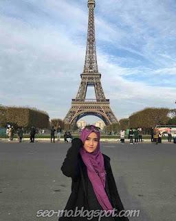 Foto Keren Wirda Mansur di Paris