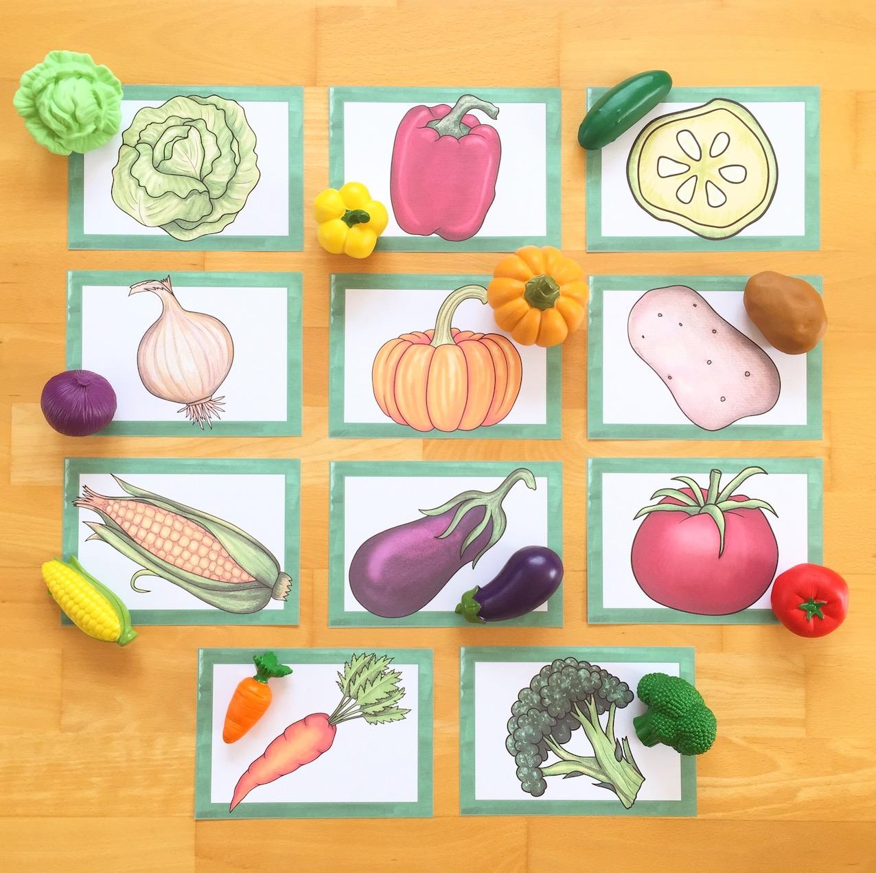 Eingesetzt Englisch materialwiese thema vegetables im englischunterricht