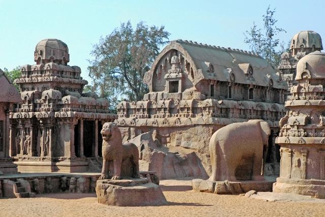 Mahabalipuram Monolithic Stone Chariots  - The Panch Ratha complex