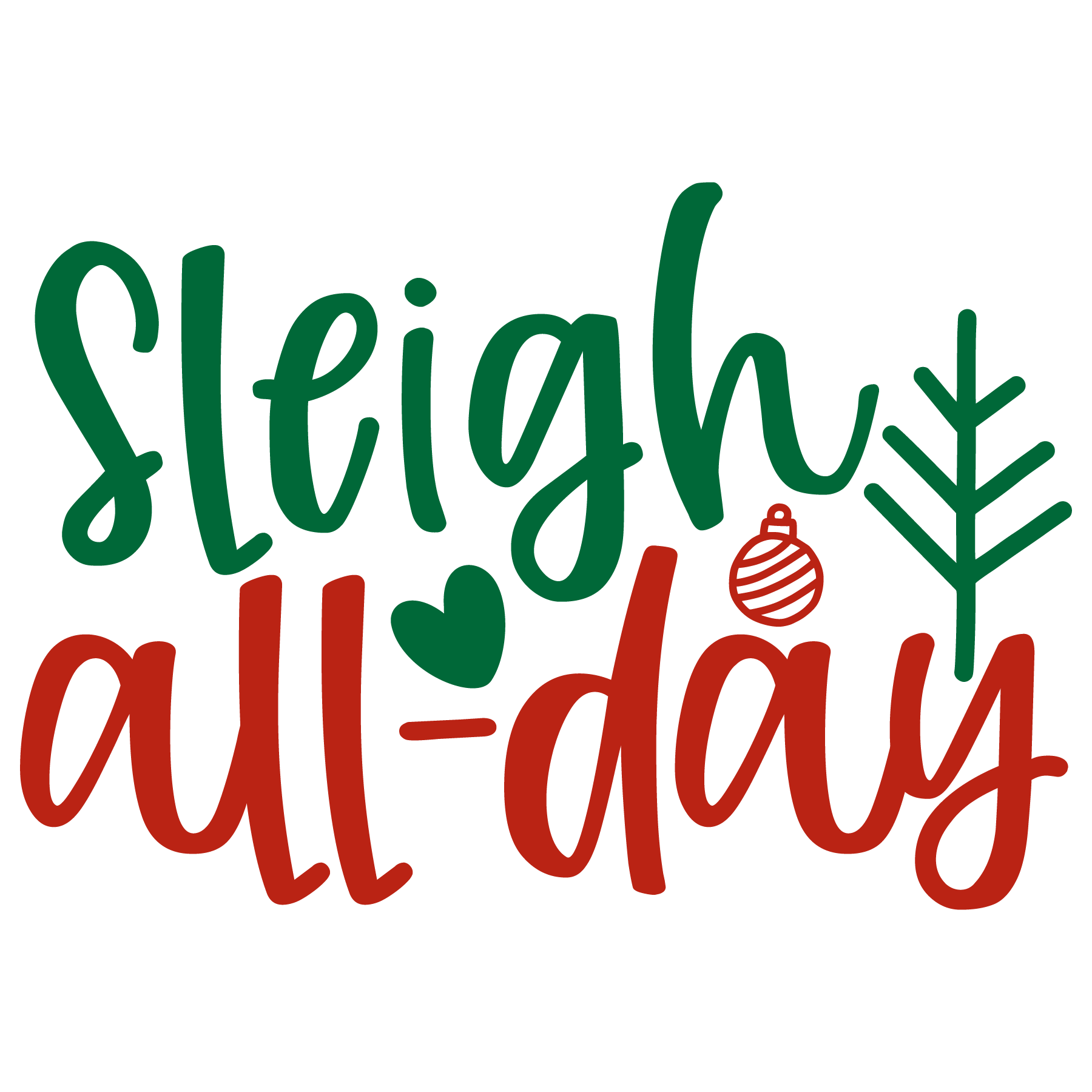 Sleigh All-Day SVG Cut Files