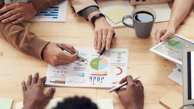 meeting, pai chart, financial waste, financial tips, business
