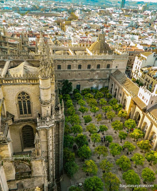 "Catedral de Sevilha: Patio de los Naranjos (""Pátio das Laranjeiras"")"