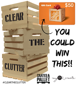 Giveaway #cleartheclutter $50 Home Depot Gift Card