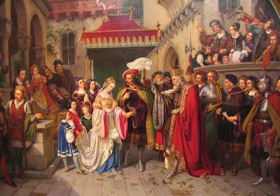 """Foto-credits Titelbild: Wilhelm Nerenz: Gemälde von 1836 angeregt durch """"Das Käthchen von Heilbronn"""" http://commons.wikipedia.org (08.02.2020)"""