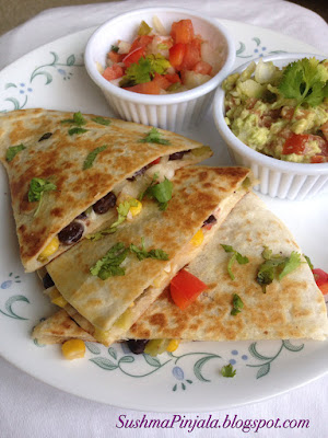 Veg and Bean Quesadilla