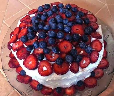 Berry Whipped Cream Cake