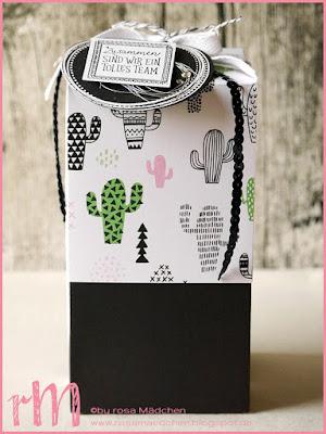 Stampin' Up! rosa Mädchen Kulmbach: Swaps vom Teamtreffen bei Moni in Coburg - Geschenkschachtel