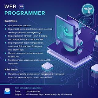 lowongan kerja web programmer tebar.co.id terbaru