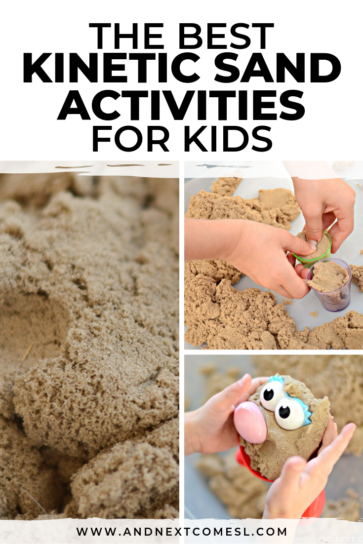 Kinetic sand activities for kids