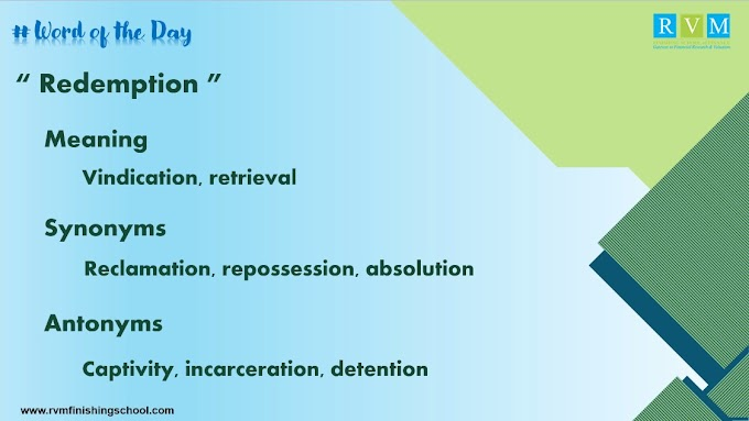 Word Of The Day Redemption