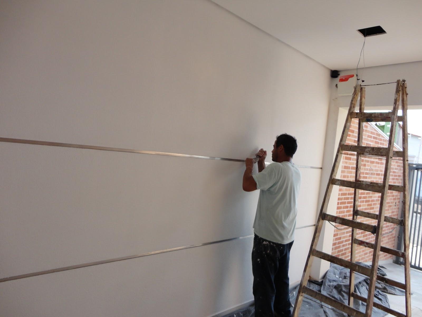 A reforma de nossa casa preparando para a pintura da - Frisos para paredes ...