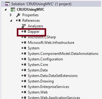 CRUD Operations In ASP NET MVC 5 Using Dapper With Stored Procedure
