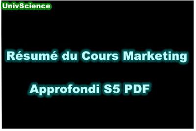 Résumé Du Cours Marketing Approfondi Humaines S5 PDF.