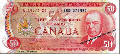 The Liberal politician Mackenzie King on our $50 since 1975