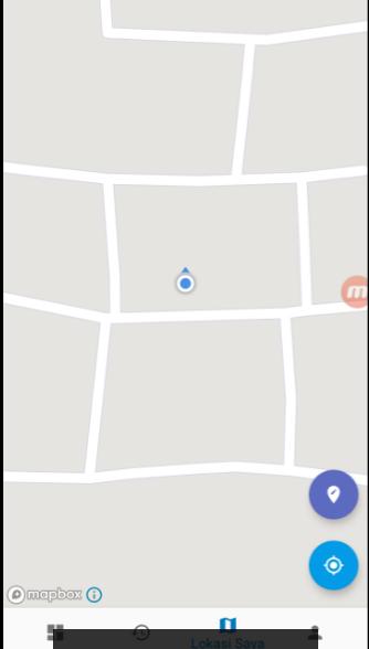 Tampilan lokasi MAPBOX E-Presensi
