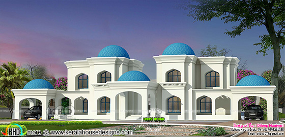 Dome house Arabic style architecture design
