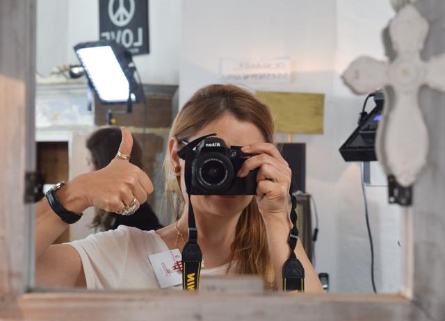 Chrissie aus der edelfabrik beim Event von essence zum Sortimentsupdate 2015
