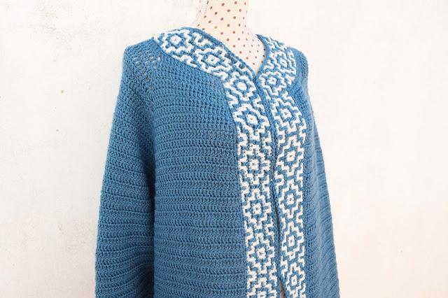 3 - Crochet Imagen Chaqueta azul a crochet y ganchillo por Majovel Crochet