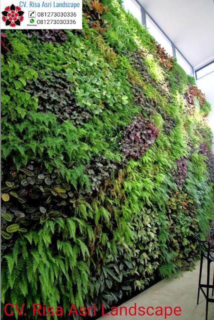 jasa pembuatan vertical garden (dinding hijau) di gresik