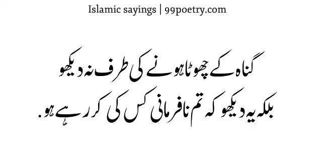Guna ke Chhota hone Ki Taraf Na Dekho-islamic-ramzaan-sayings